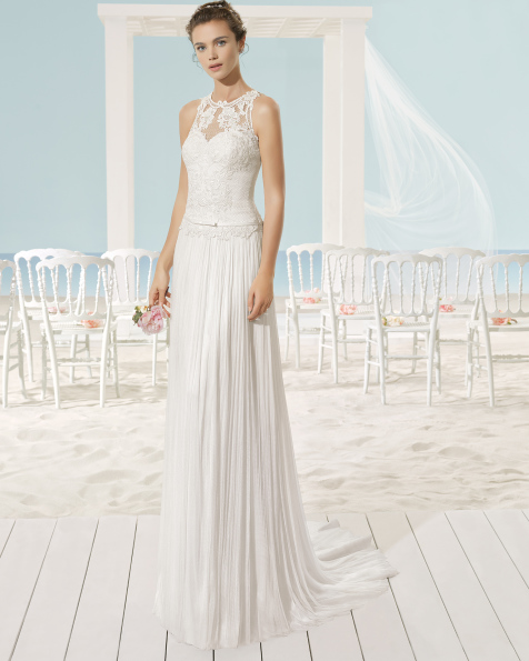 XENOBIA wedding dress - Aire Barcelona Beach Wedding 2017