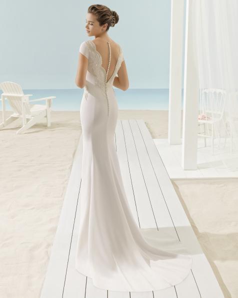XILEMA vestido de novia Aire Barcelona Beach Wedding 2017