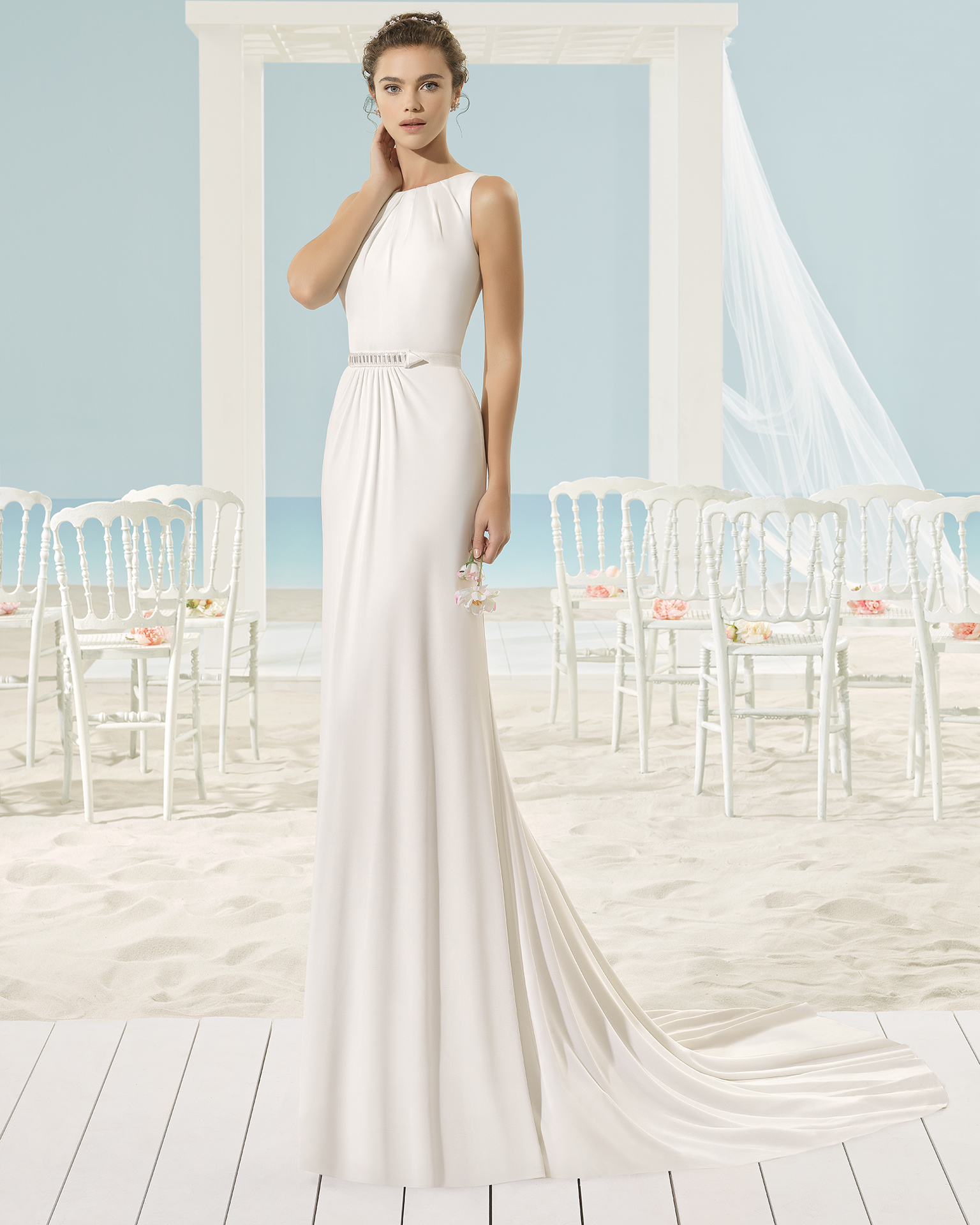 XIMEI Brautkleid Aire Barcelona Beach Wedding 2017