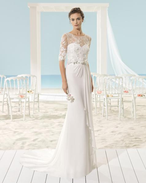 XIOT vestido de novia Aire Barcelona Beach Wedding 2017
