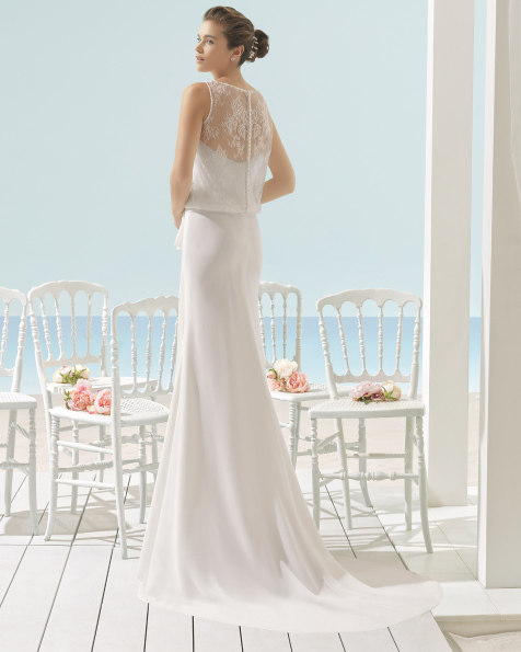 XOAN bloused wedding dress.