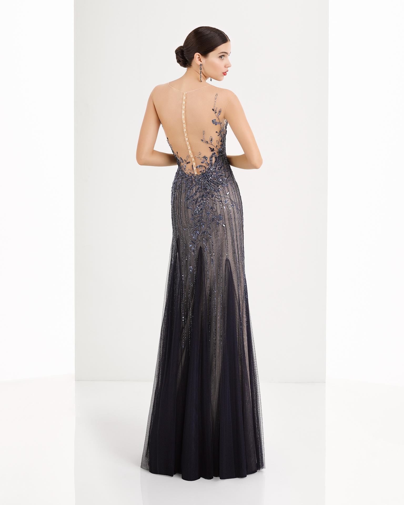 Vestidos de noche con espalda descubierta 2018