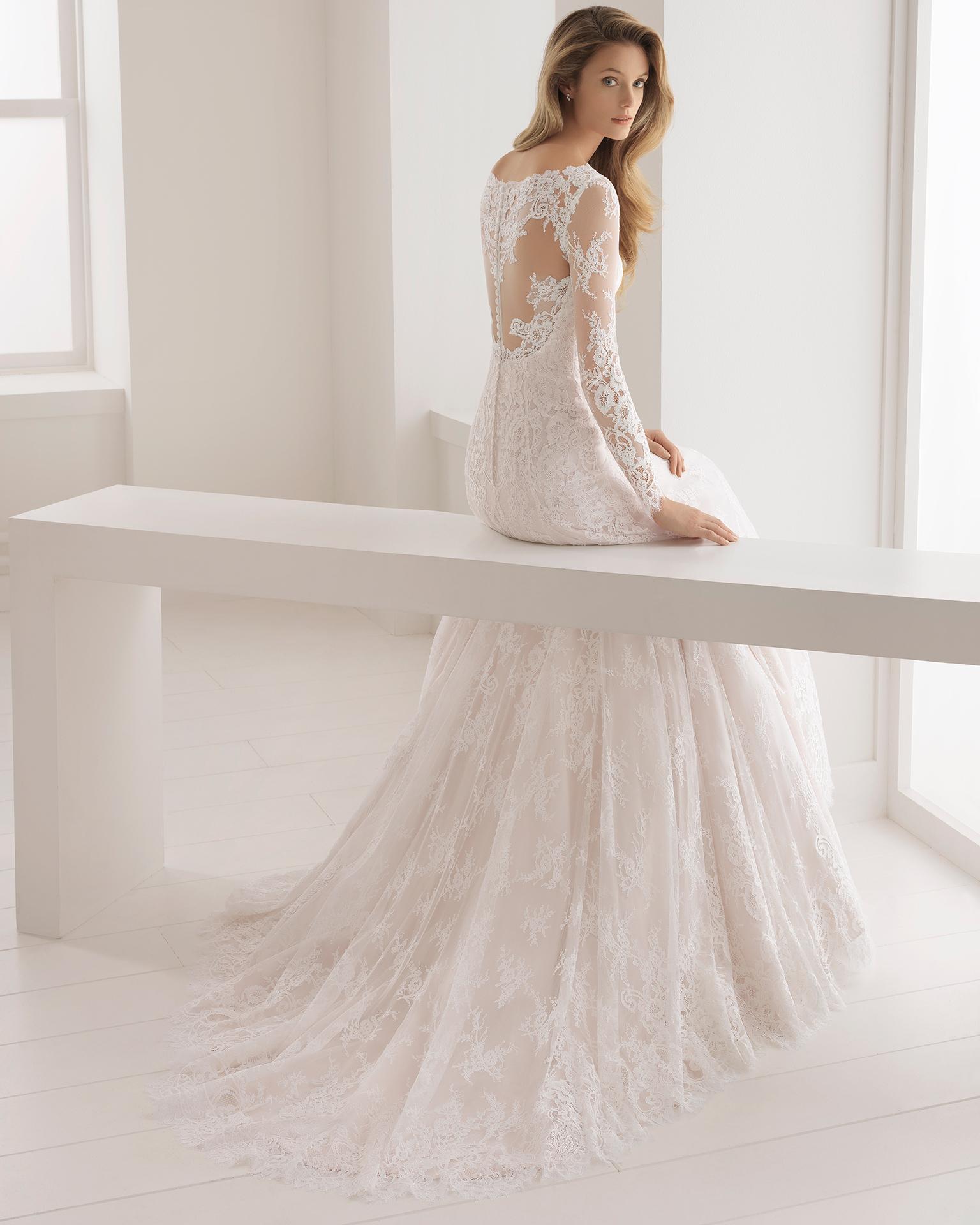 Vestidos de novia con manga encaje