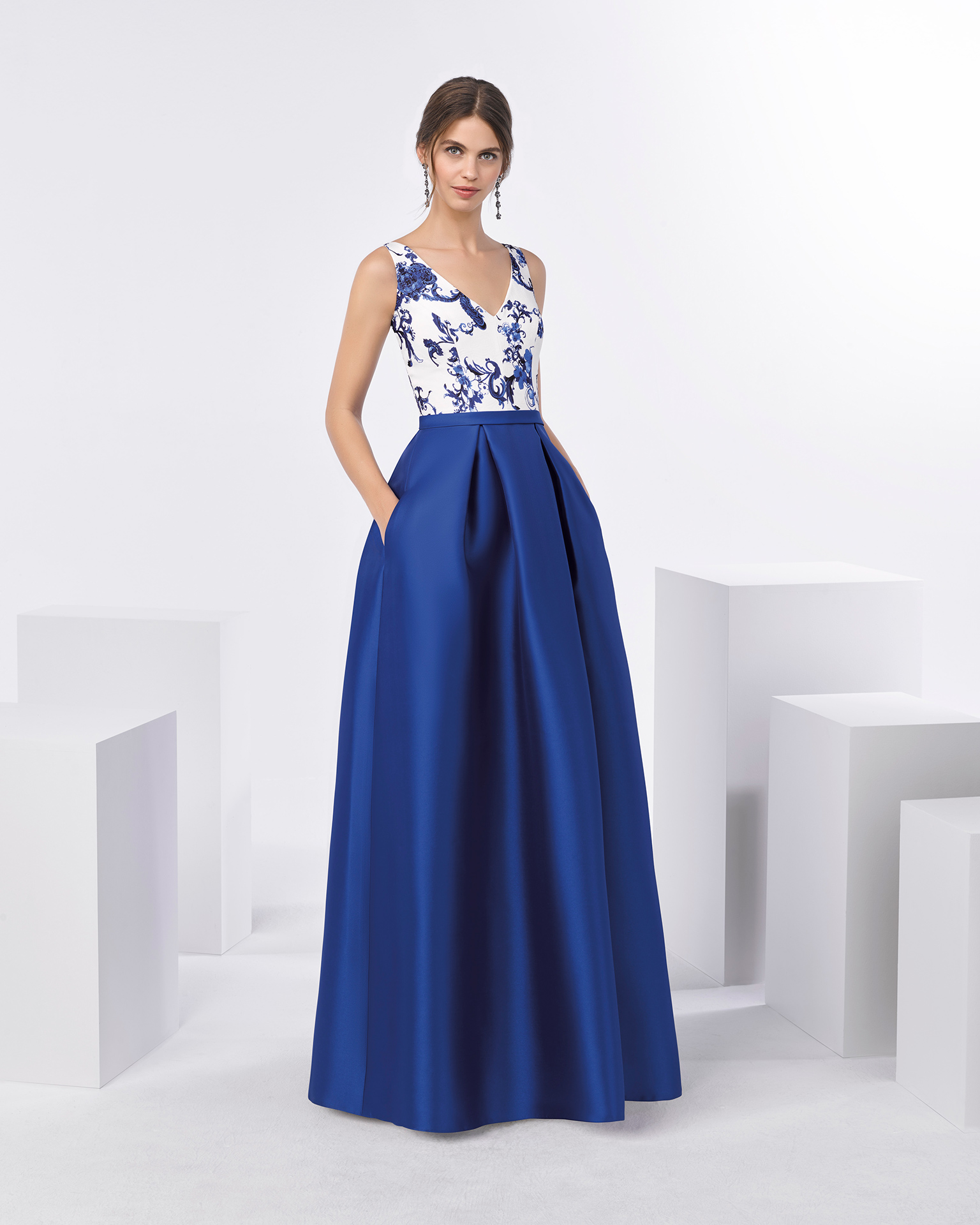 Vestidos para damas de honor azul petroleo