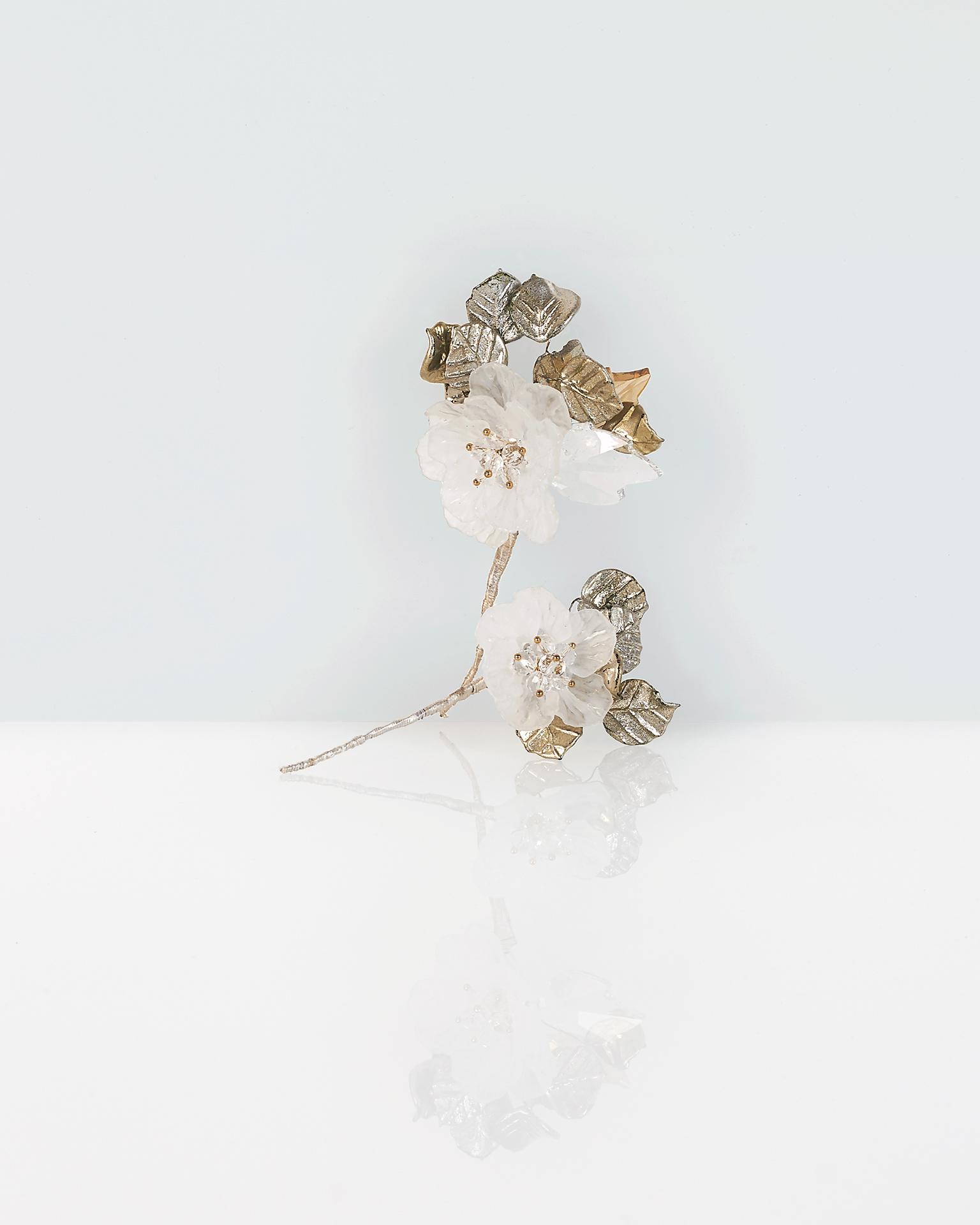 Braut-Haarstab aus Kristall und Metall, 2 Stk. Kollektion  2018.