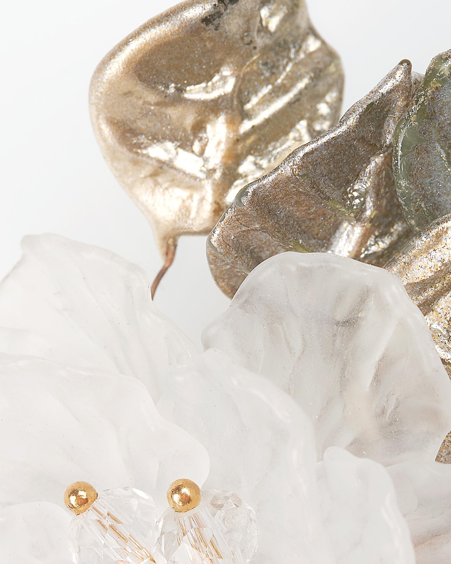 水晶和金属新娘长发卡(2 件)。  新品系列 2018.