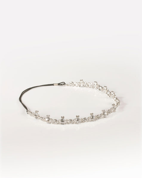 Crystal tiara, in silver. 2018  Collection.