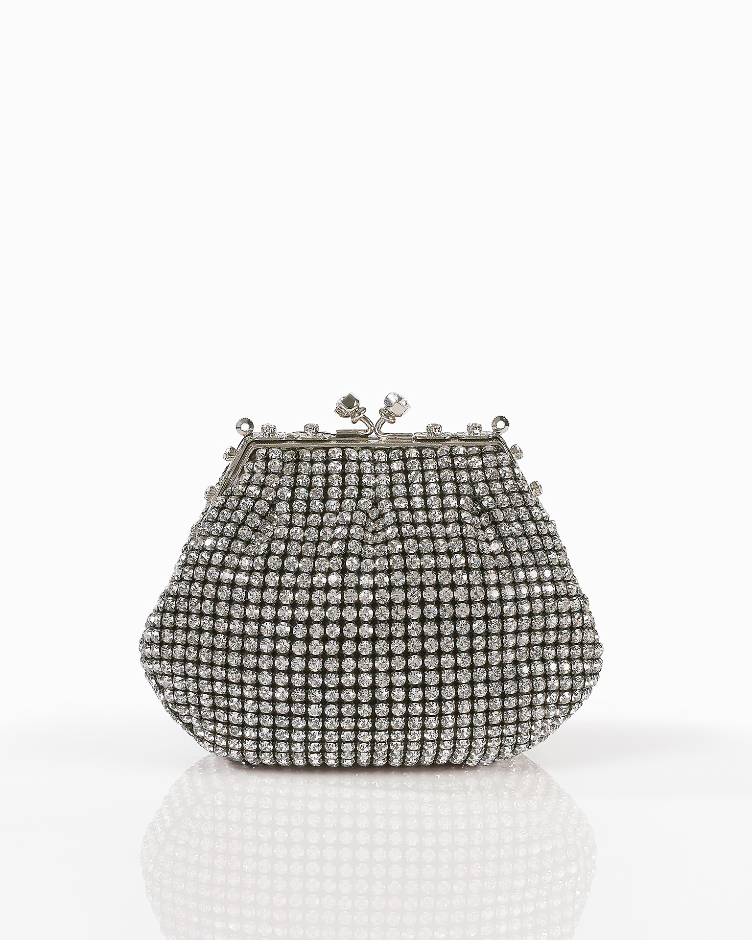 Jewelled clutch bag, in silver, black and gold. 2018 FIESTA AIRE BARCELONA Collection.