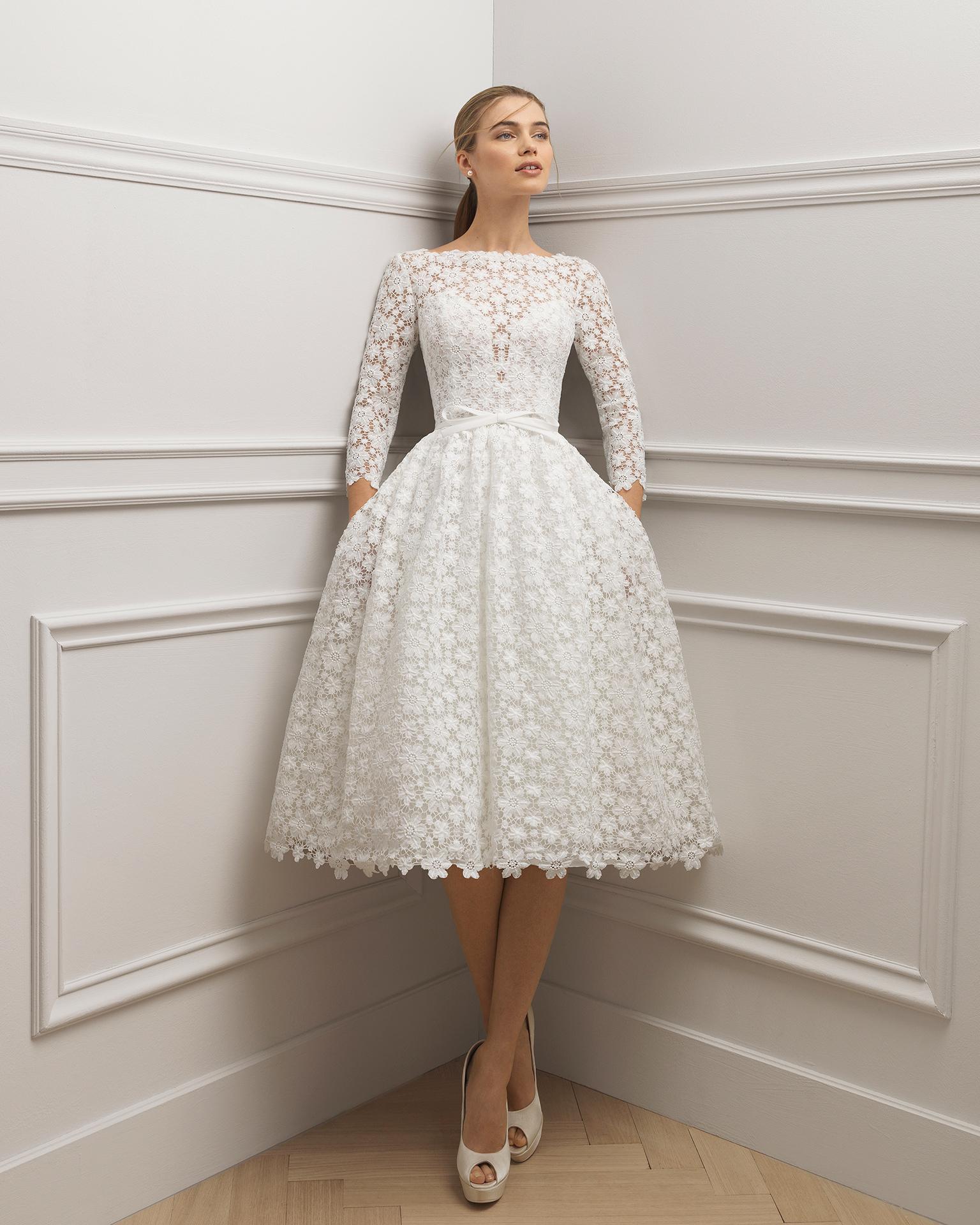 Vestidos de novia manga larga y cortos
