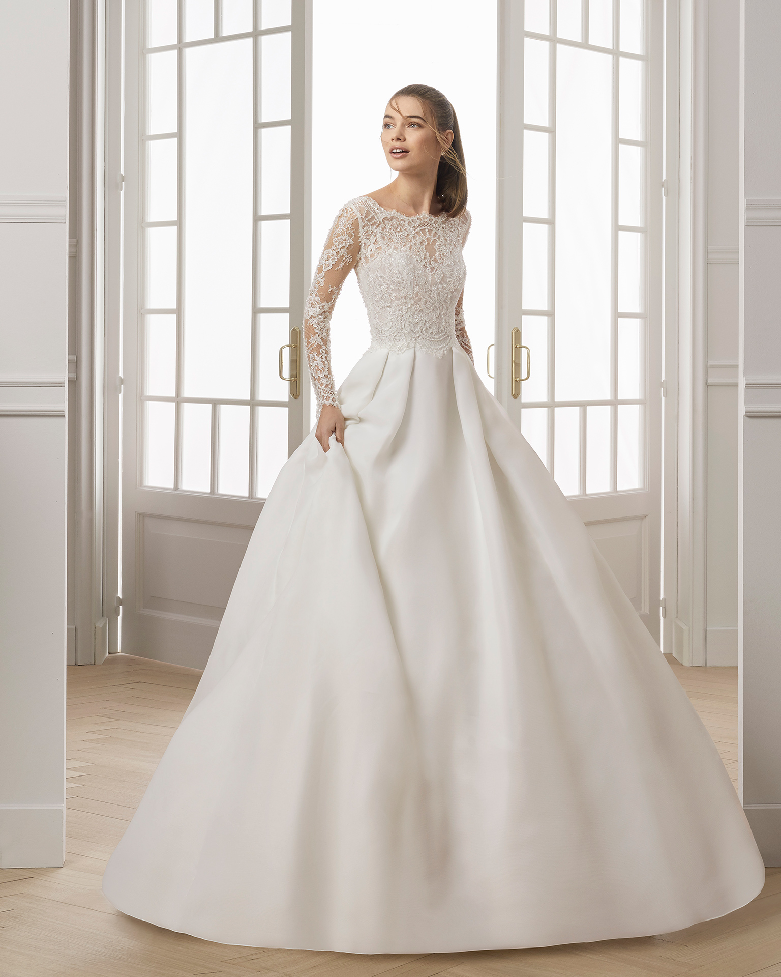 Vestido novia manga larga 2019