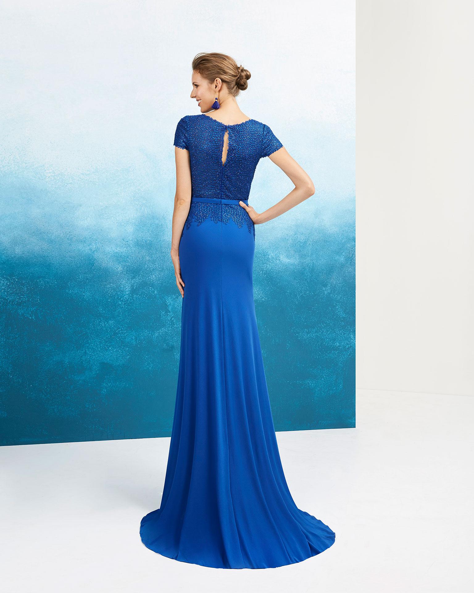 Vestido de festa azul cobalto