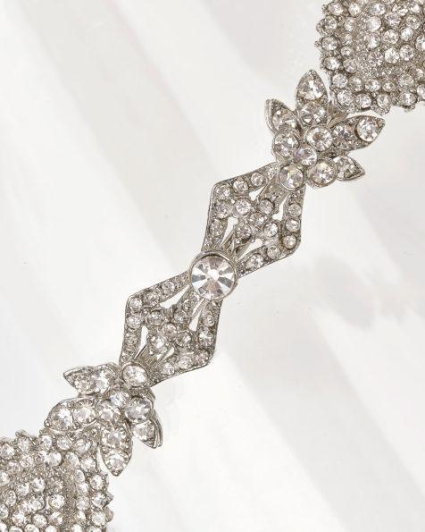 Crystal tiara, in silver. 2019 MARTHA_BLANC Collection.